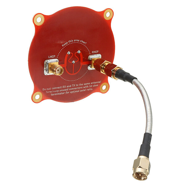 Realacc Triple Feed Patch-1 5.8GHz 9.4dBi Directionnel Circulaire Polarisé FPV Pagode Antenne