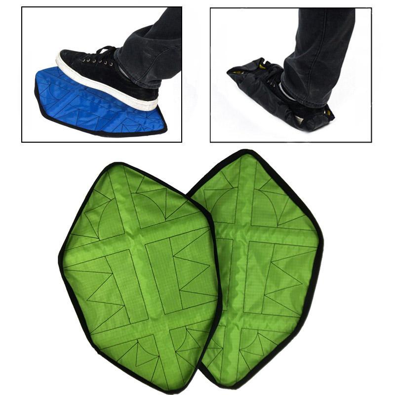 2Pcs / Pair Многоразовые чехлы для обуви На открытом воздухе Кемпинг Крытая переносная автоматическая крышка для обуви