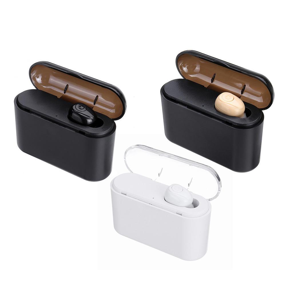 X8 Mini مفرد بلوتوث Wireless Earphone إلغاء الضوضاء يدوي مع صندوق شحن