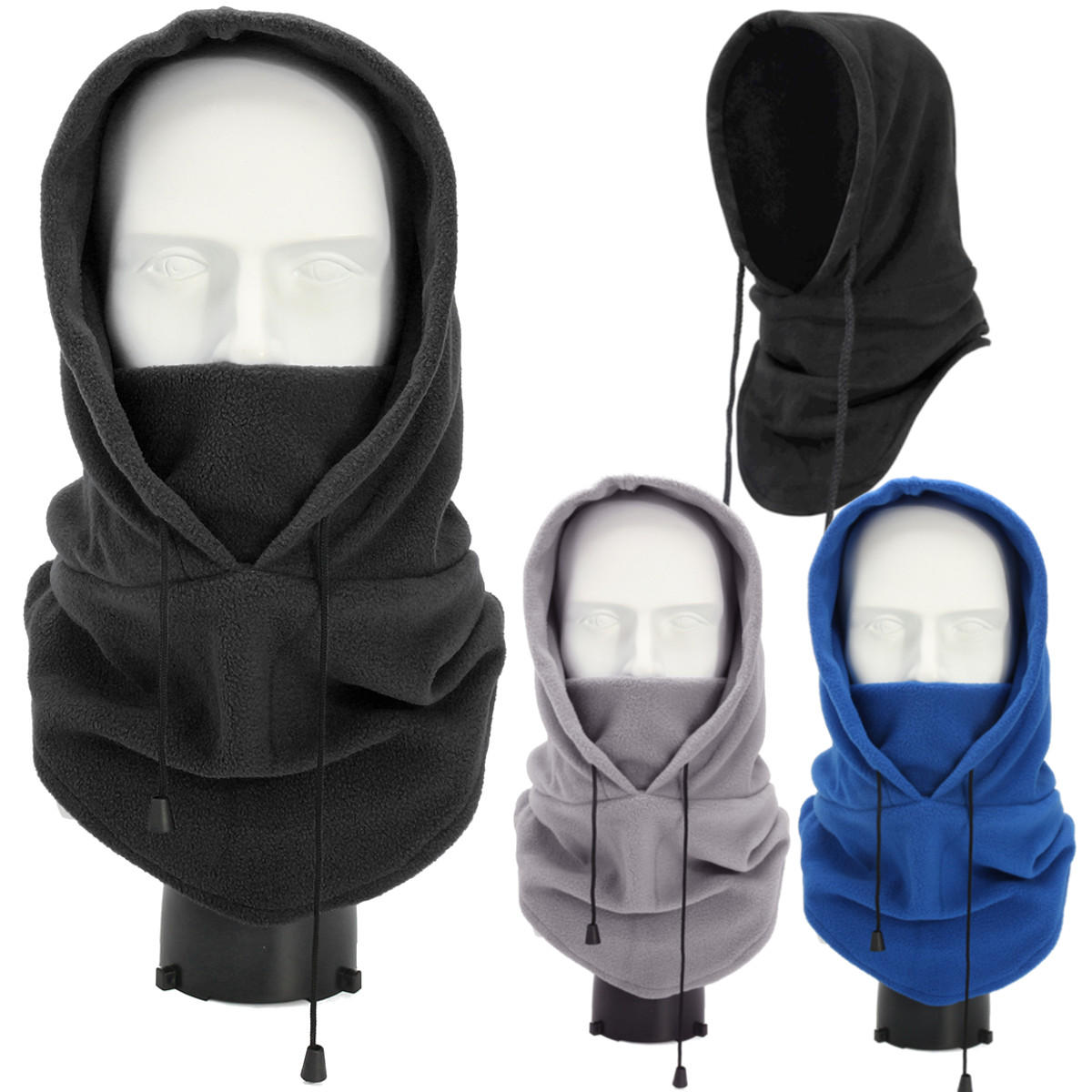 BIKIGHT Ninja Face Mask Snow Tactical Windproof Balaclava Winter Ski Cap Hat Cover Sport