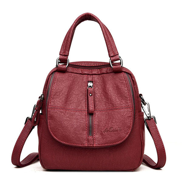 Women Fashion Plaid Handbags Multipurpose Backpack Shoulder bag Handbag
