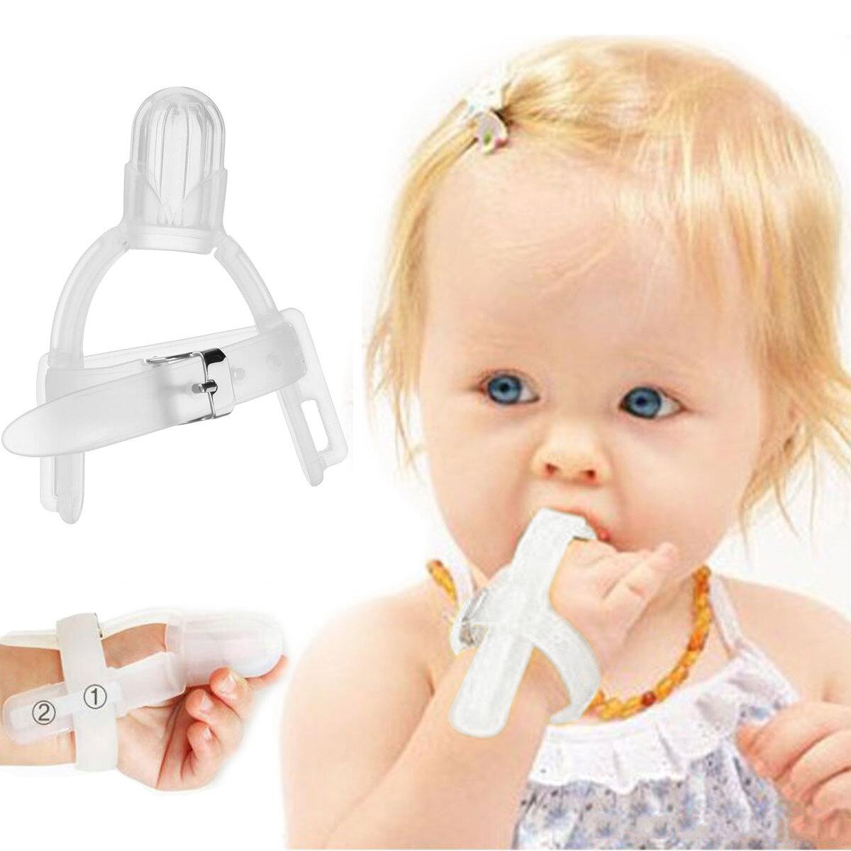 Daumenlutschen Silikon Daumen saugen Stop Finger Schutzfolie für 1-5 Jahre Baby Kids