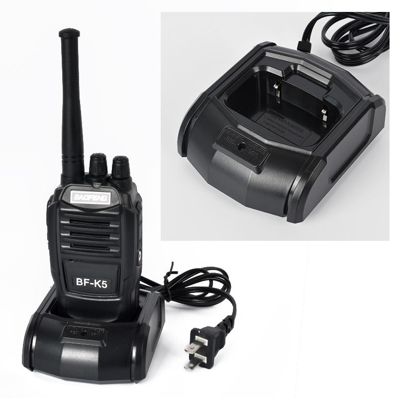 Baofeng K5 Walkie Talkie 5W UHF 16CH Black 1800mAh Li-ion Two Way Amateur Kids Toy Radio