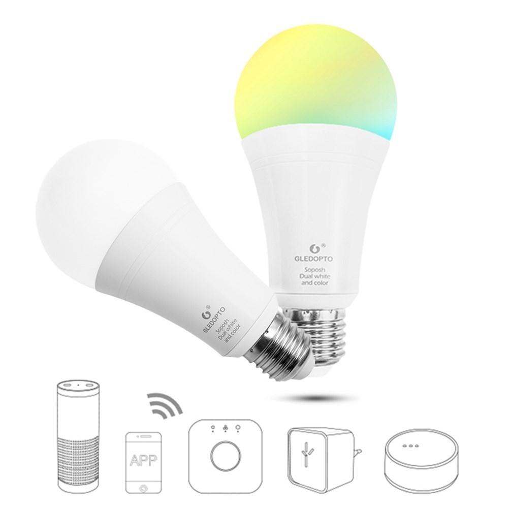GLEDOPTO Zig.Bee GL-B-008Z E27 12 W RGB + CCT Inteligente LEVOU Lâmpada Trabalho Com Kit Em Casa Philip HUE AC100-240V