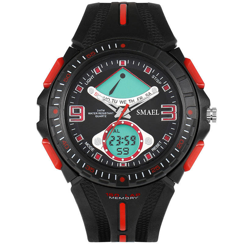 SMAEL 1315 Fahsionable LED reloj digital analógico y digital doble Pantalla reloj de pulsera masculino