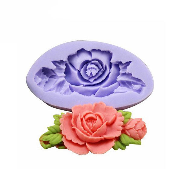 F0199 Silicone Rose Flor Bolo Molde Soap Chocolate Resin Mold Baking Tool