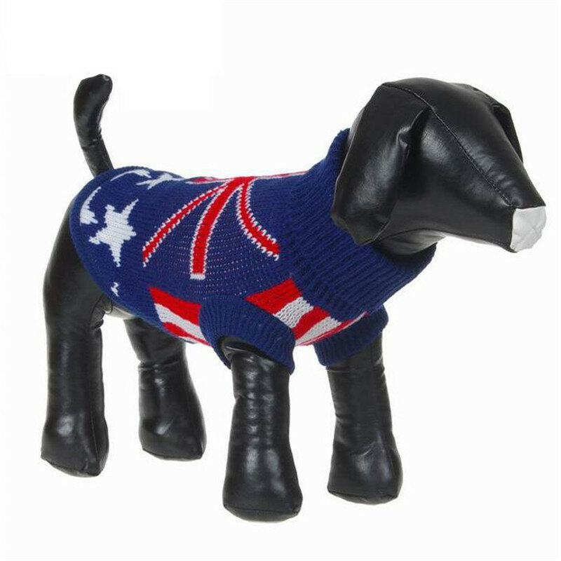 Pet Dog Cat Clothes Sweater Winter Coat Hoodie UK Star Style Christmas Apparel Outfits