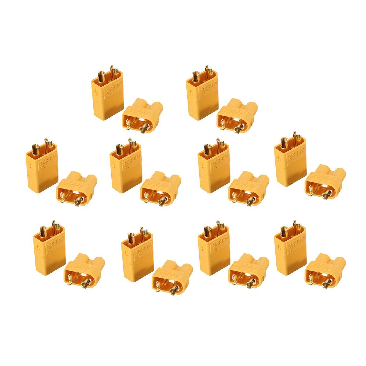 10 coppie XT30 2mm Golden Maschio Femmina Interfaccia spina Connettore