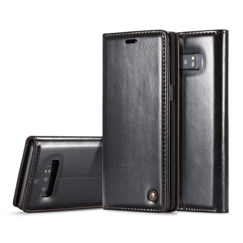 Casbase magnétique Flip Cas Case pour Samsung Galaxy Note 8