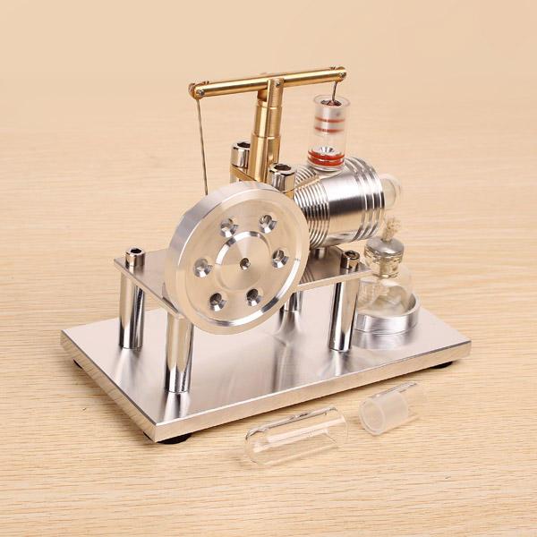 Motor de combustão externo do modelo do motor de Stirling do equilíbrio com o presente livre aleatório