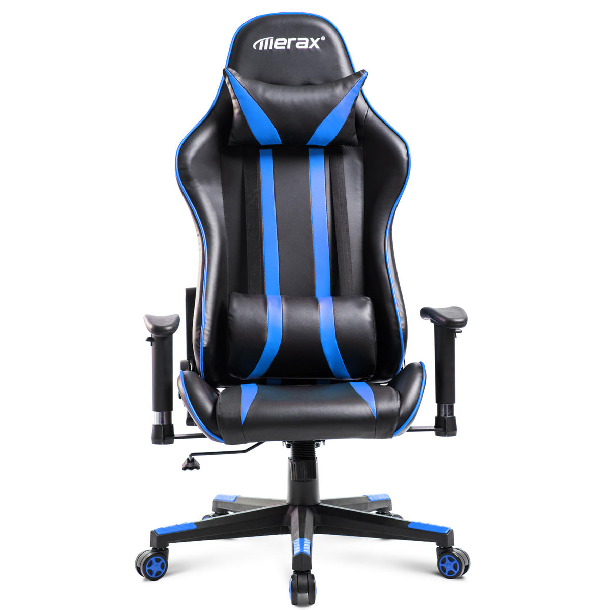 Fantastic Merax Office Chair Ergonomic High Back Racing Gaming Chair Computer Chair Pu Leather Adjustable Height Rotating Lift Chair Folding Chair Evergreenethics Interior Chair Design Evergreenethicsorg