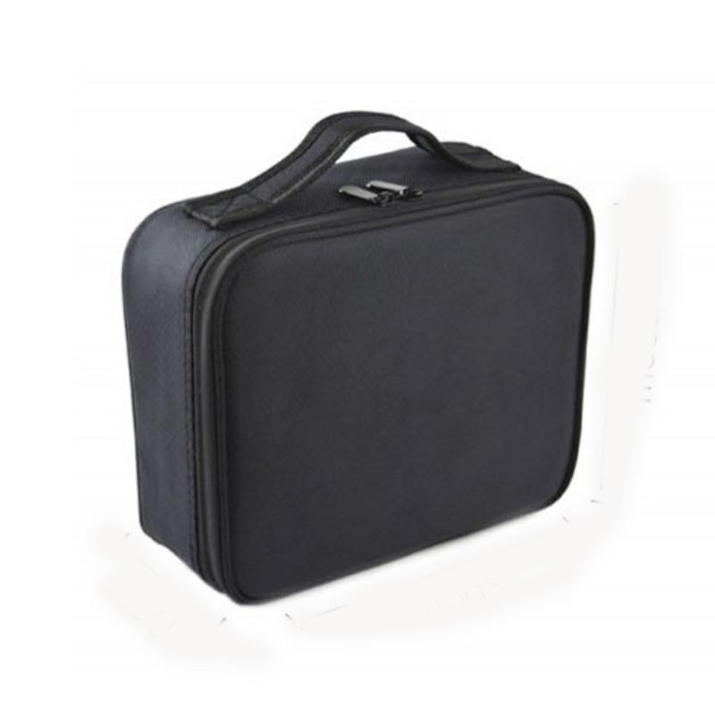 Trousse de maquillage cosmétique à double couche de voyage en plein air pour organisateur de sac de rangement étanche