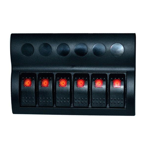 Interruptor de la modificación del coche caravana interruptor combinado tablero de 6 vías para vehículos de yates