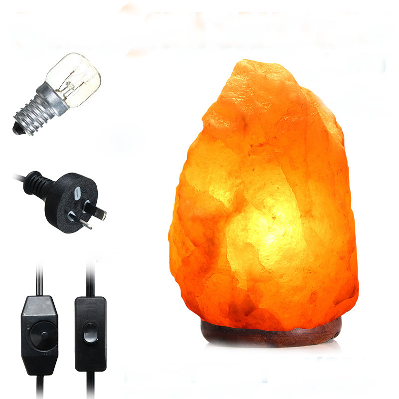 40 X 20CM Himalayan Glow Hand Carved Natural Crystal Salt Night Lamp Table Light With Dimmer Switch