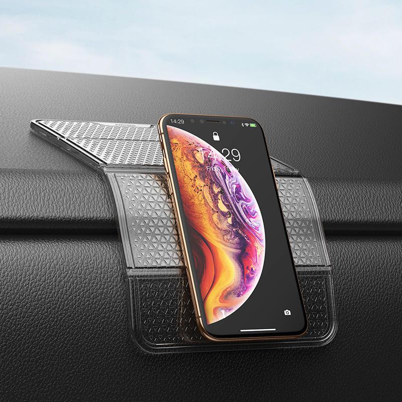 Baseus Nano Poderoso adesivo pegajoso suporte do painel de montagem do carro dobrável para xiaomi Huawei telefone móvel