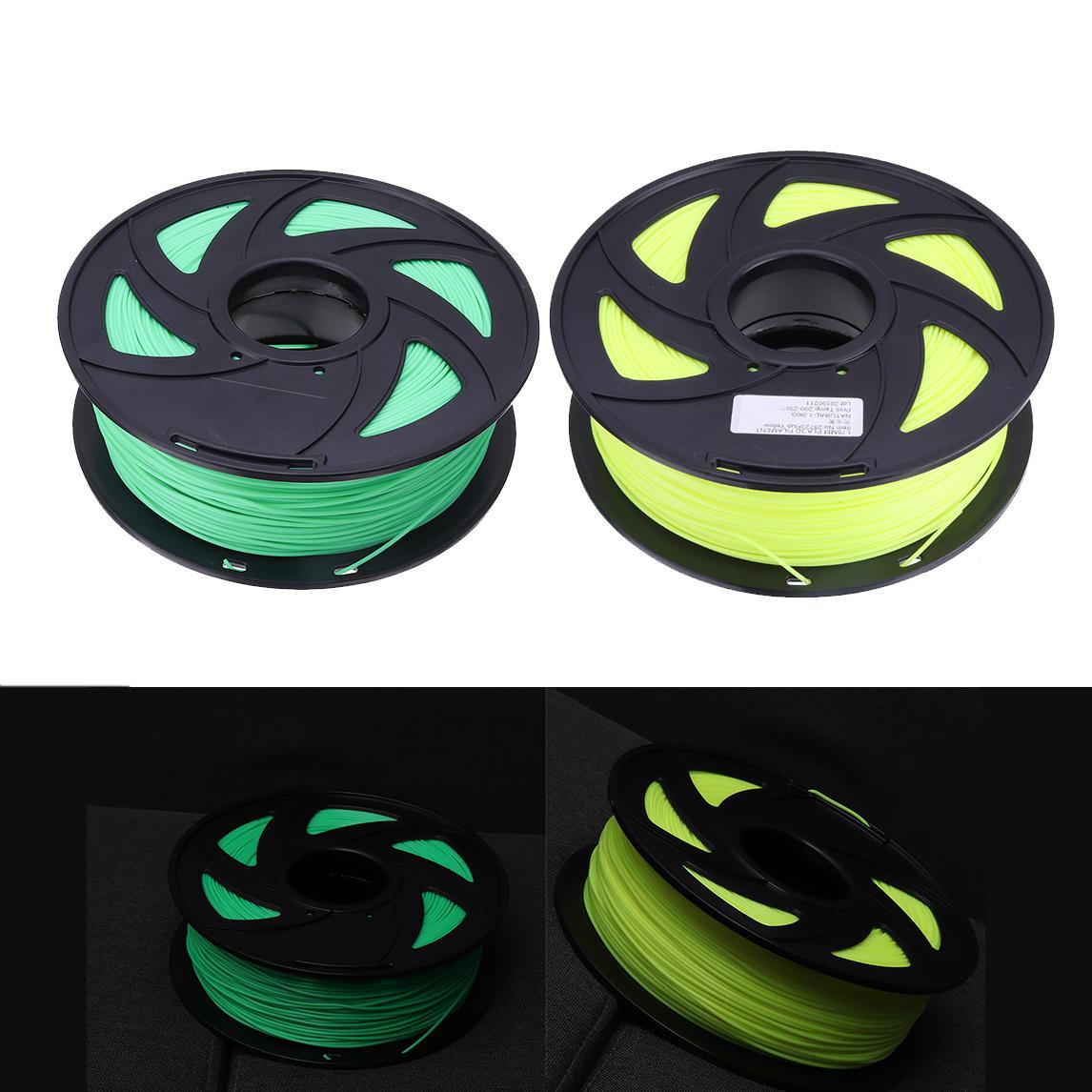 Fluorescence Yellow/Fluorescence Green 1.75mm 1KG/Roll PLA Filament for 3D Printer