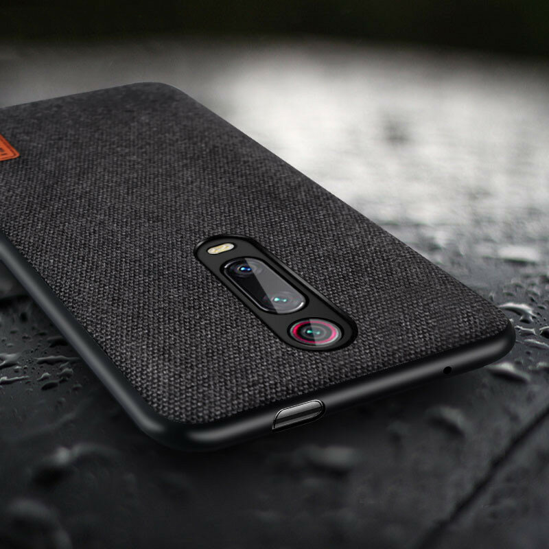 Bakeey Luxury Canvas Fabric Splice Soft Silicone Edge Shockproof Protective Case for Xiaomi Mi 9T / Xiaomi Mi 9T PRO / Xiaomi Redmi K20 / Redmi K20 PRO