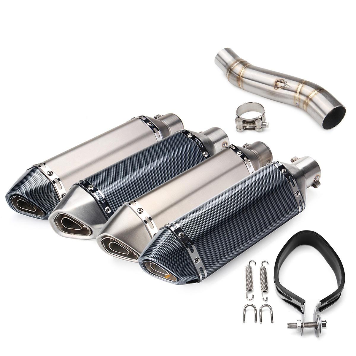 Tuyau de silencieux d'échappement de 51mm glissant sur le tuyau central de lien pour Honda CBR300R CB300F