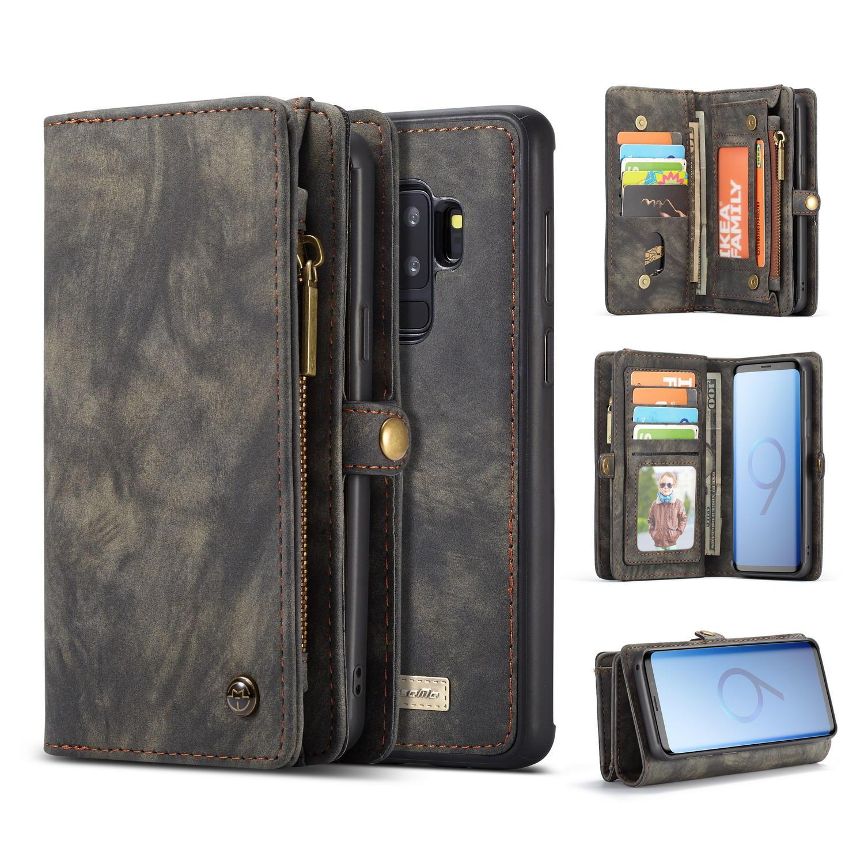 Cassa del telefono del raccoglitore staccabile magnetico di Caseme per Samsung Galaxy S9 Plus