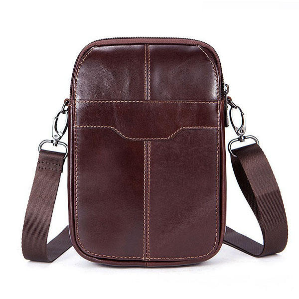 Women Genuine Leather Casual Business Vintage Crossbody Bag
