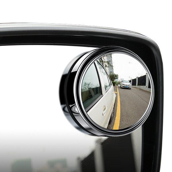 Mirroir d'angle mort pour véhicule automobile Rétroviseurs Verre convexe HD vue à 360 degrés Miroir ajustable