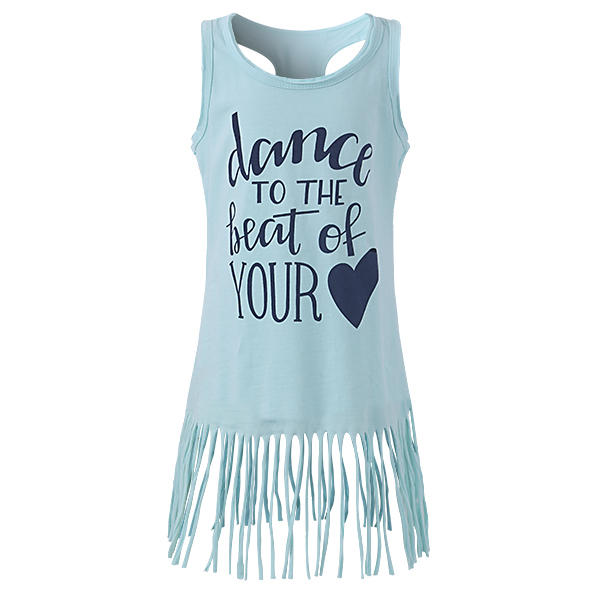 Baby Kid Girls Letters Heart imprimé Tassel Sleeveless Tank Dress