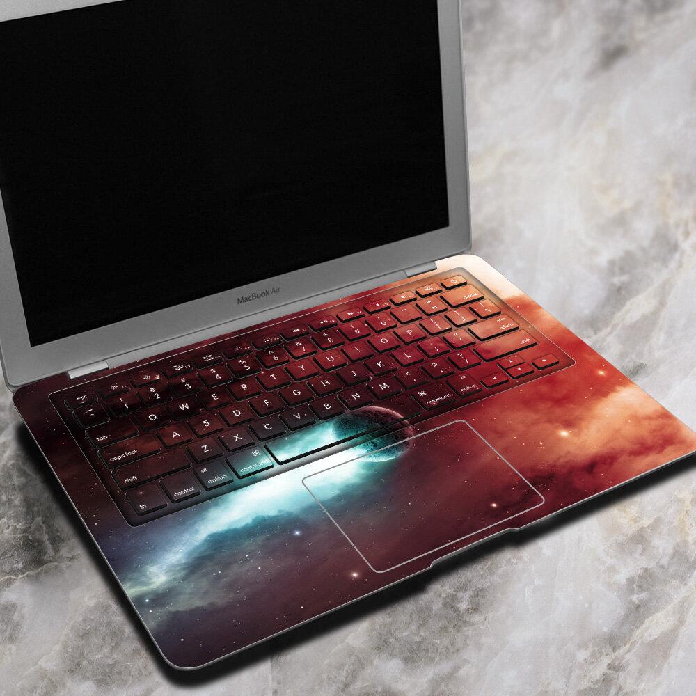 MacBook Air İçin PAG Işık Hızında Üstünlük Dizüstü Çıkartma Etiket Kabarcık Kendinden Yapışkanlı 13 İnç