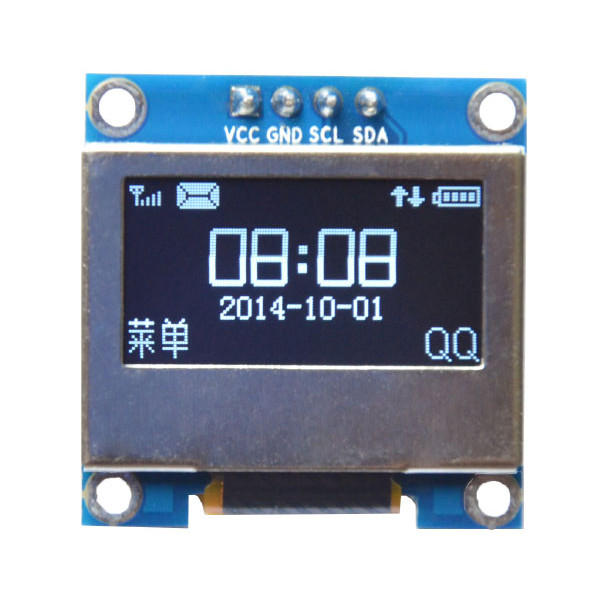 0.96 Inch 4Pin White LED IIC I2C OLED Display With Screen Protection Cover For Arduino