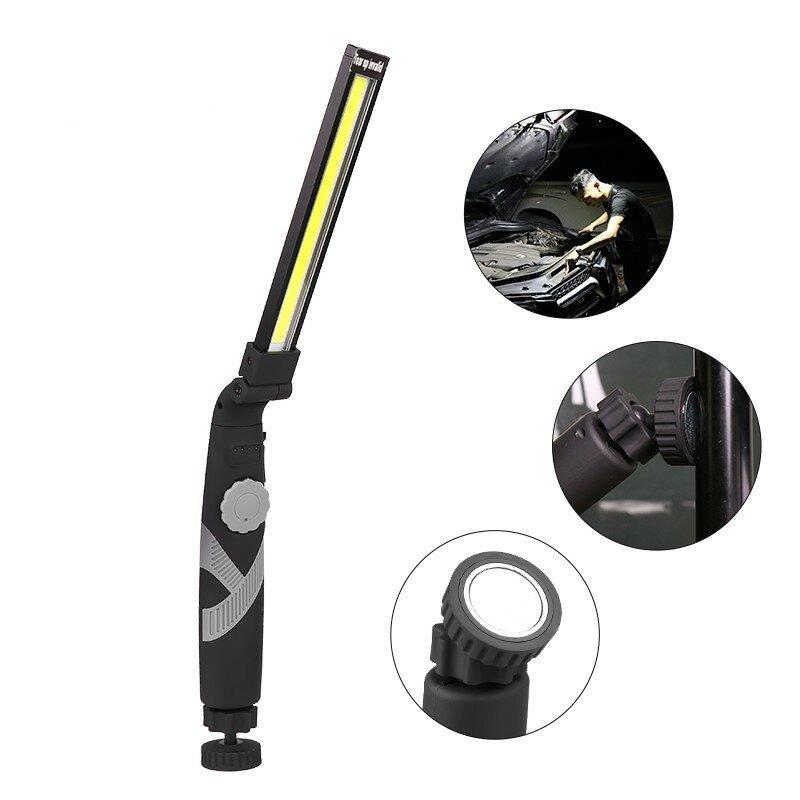 Enusic ™ COB Luz de Trabalho Dobrável Recarregável Stepless Escurecimento Mão Tocha Inspeção Magnética Lâmpada