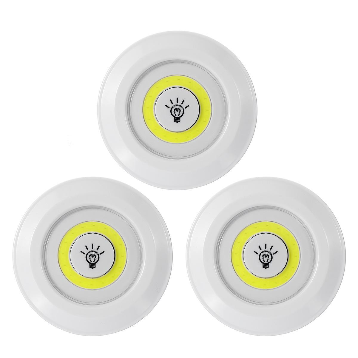 3szt COB LED Lampka nocna Sypialnia Korytarz Lampa z bezprzewodowym pilotem
