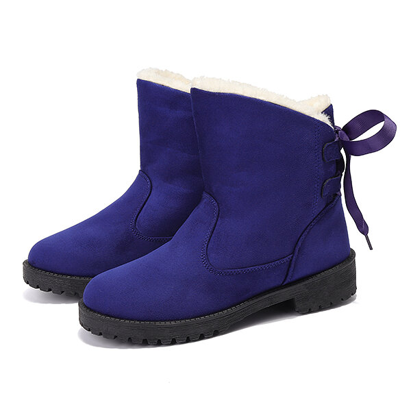 US Size 5-12 Winter Cotton Boots Fur Lining Ankle Snow Boots