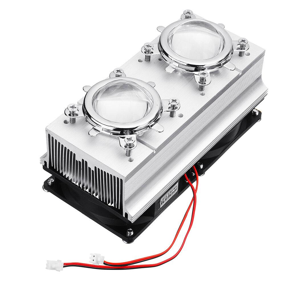 100 W de Alta Potência Dissipador de Calor de Refrigeração com Ventiladores 44mm Lens + Refletor Suporte para DIY LED Lâmpada