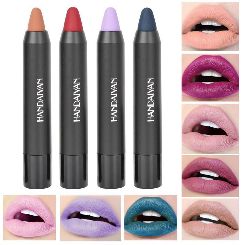 12 couleurs nu mat velours rouge à lèvres stylo lèvres maquillage durable durable imperméable à l'eau