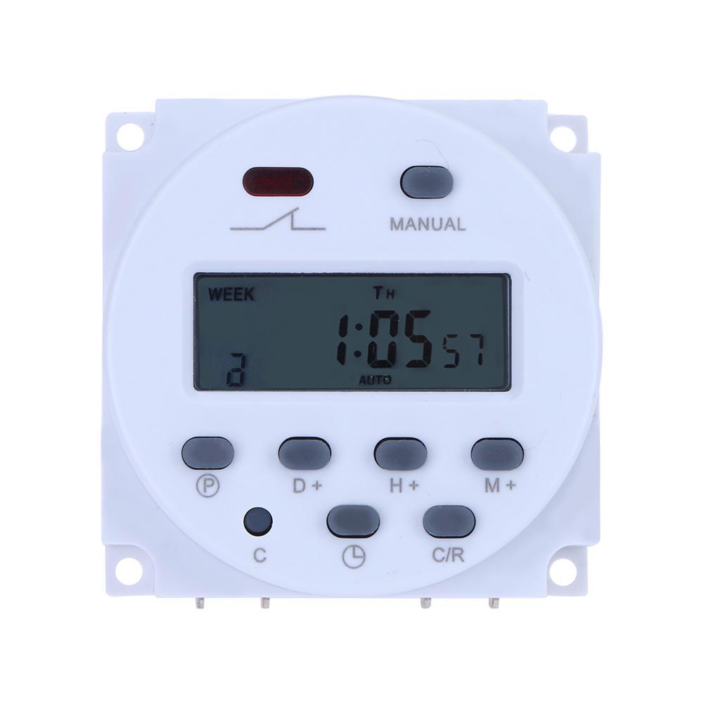 Loskii CN101A 12 فولت 36 فولت 110 فولت 220 فولت للبرمجة رقمي lcd القوة الموقت التبديل التقوية 16a الموقتات