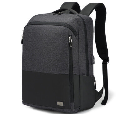 OUTWALK Business Backpack Simple Fashion Trend Korean Casual College Student Travel Laptop Bag
