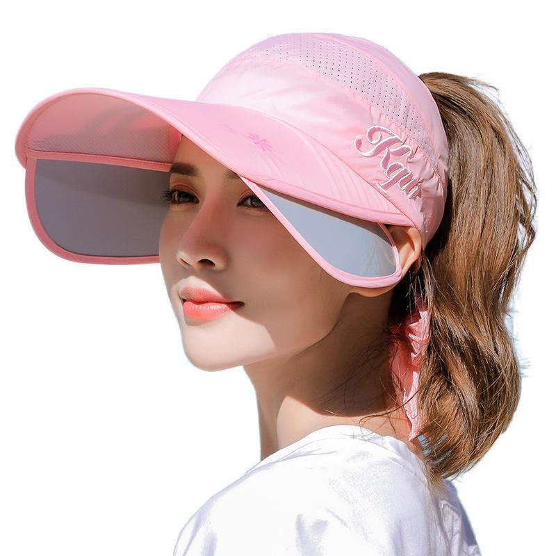 Verstelbaar zonnescherm UV Cover Face Cap Heren Femal Outdoor Travel Running Summer Beach Wild Sun Hat