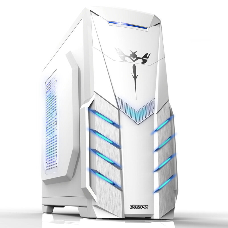 2019 Hot ATX Gaming Computer Case PC gaming PC tower computer box Micro-ATX ITX transparent panel side for PC gamer enclosure