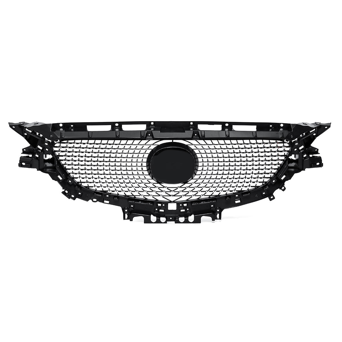 ABS Black Gypsophila Front Mesh Grille Grill Cover for MAZDA 6 ATENZA 2017 2018