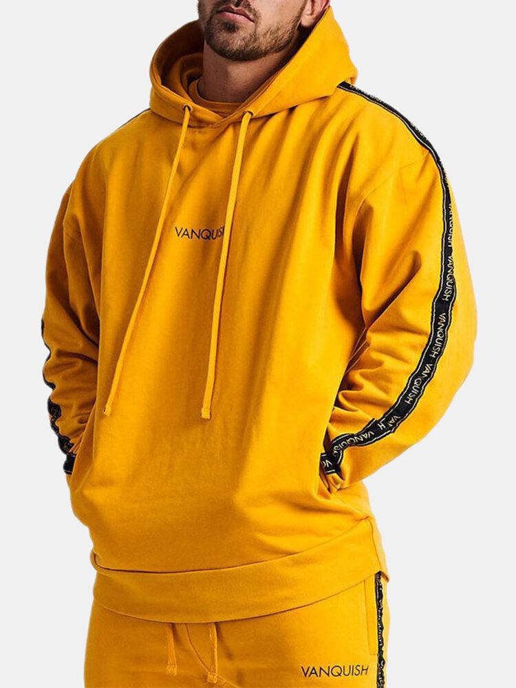 Мужская новая свитер с капюшоном с капюшоном На открытом воздухе Бег Повседневная одежда Спортивная толстовка