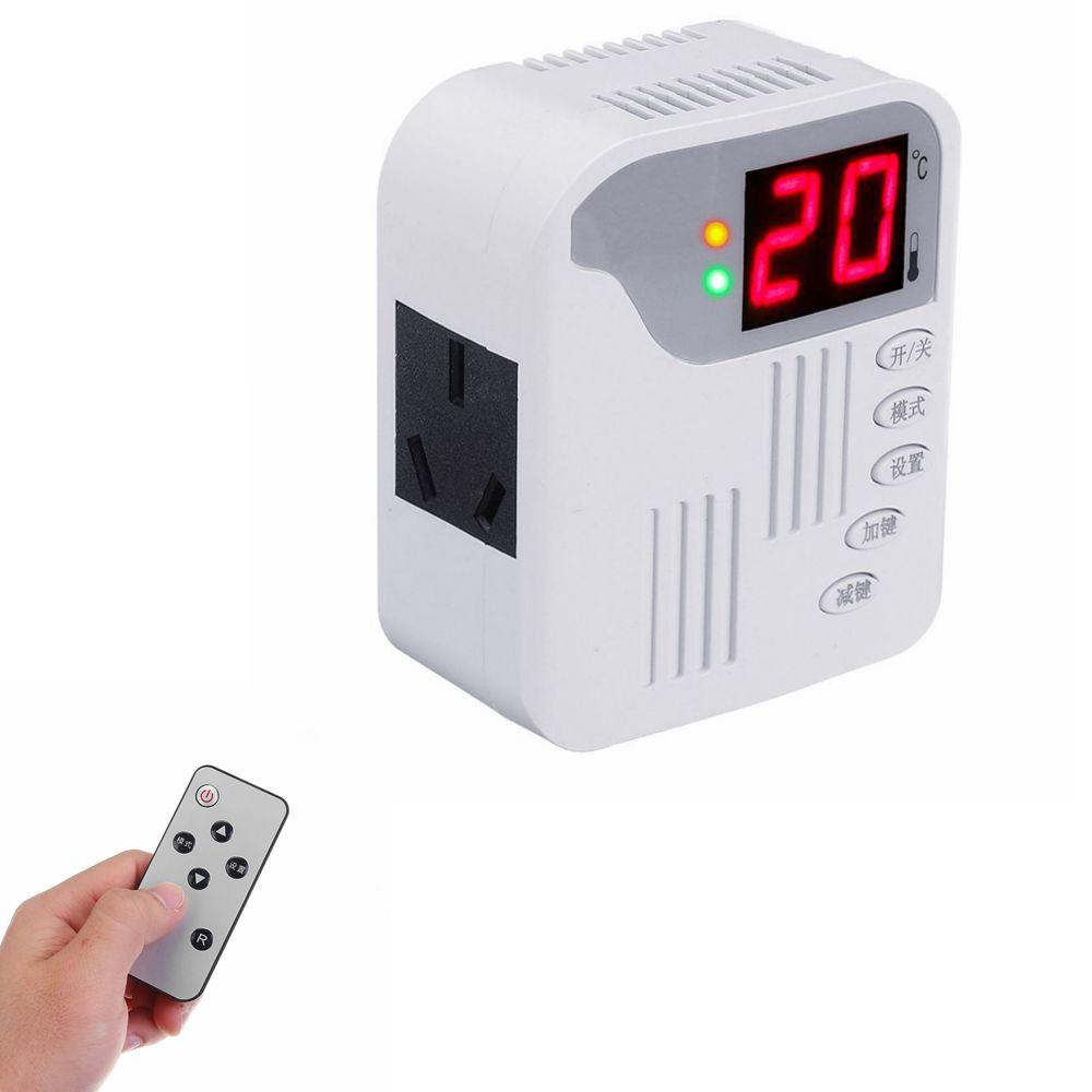 ZFX-003 Carbon Crystal Plate Thermostat Socket Temperature Control Remote Control Switch Radiator Temperature Controller 2000W AC 220V
