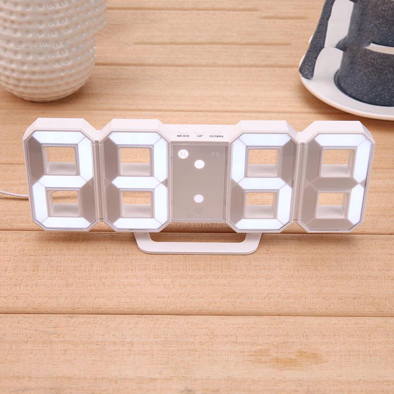 Digitale elektronische desktop klok LED klok wekker 12/24 uur Display Home Decorations