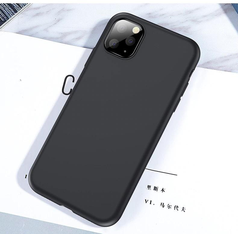 Bakeey Smooth Shockproof Soft Liquid Silicone Protective Case for iPhone 11 Pro 5.8 inch