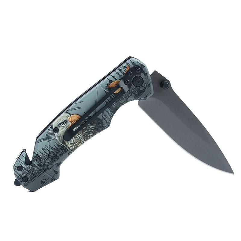 LAOTIE FA18-1 227mm Stainless Steel Folding Knife Outdoor Survival Tools Kit Hiking Climbing Multifunctional Knife