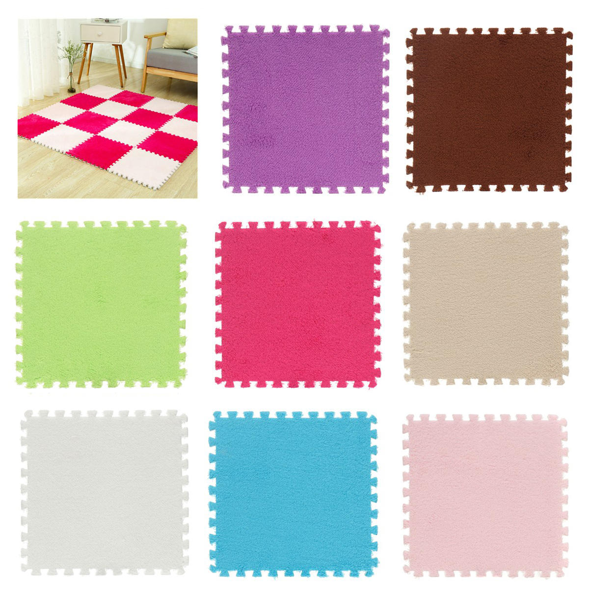 30*30*1 cm EVA Foam Floor Mat Cushion Interlocking Exercise Yoga Puzzle