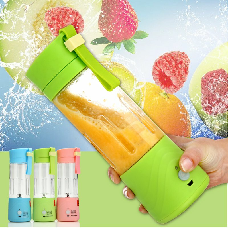 3.6V Portable Blender Smoothie Juicer Cup 14oz Fruit Mixing Machine With 2000mAh USB Rechargeable Blender for Home
