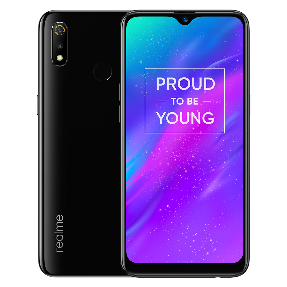 OPPO Realme 3 Global Version 6.2 pouces HD + Android 9.0 4230mAh 13MP AI Caméra frontale 3GB RAM 64GB ROM Helio P70 Téléphone intelligent Octa Core 2.1GHz 4G