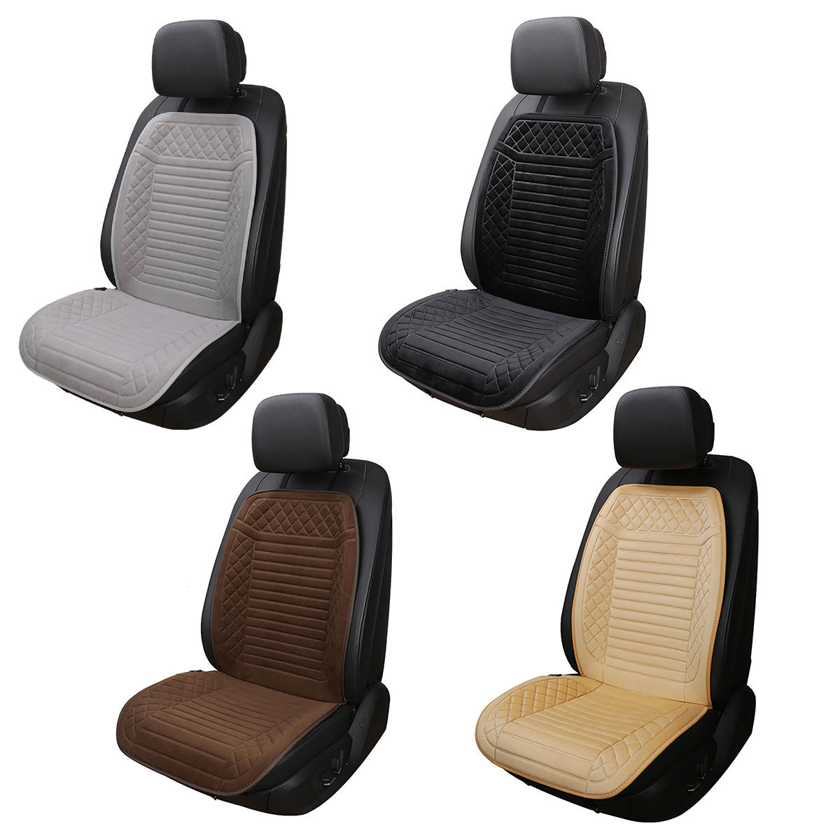 12V Electric Heated Car Front Seat Cover Pad Thermal Warmer Cushion Universal
