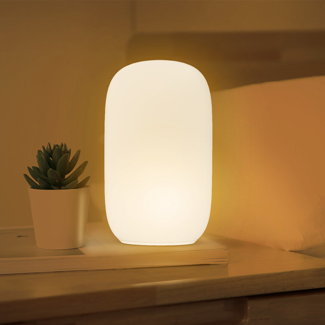 Qualitell ZS2003 USB Charging Silicone LED Night Light Orange Red Sleeping Lamp Reading Light Smart Timing Shutdown From Xiaomi Youpin