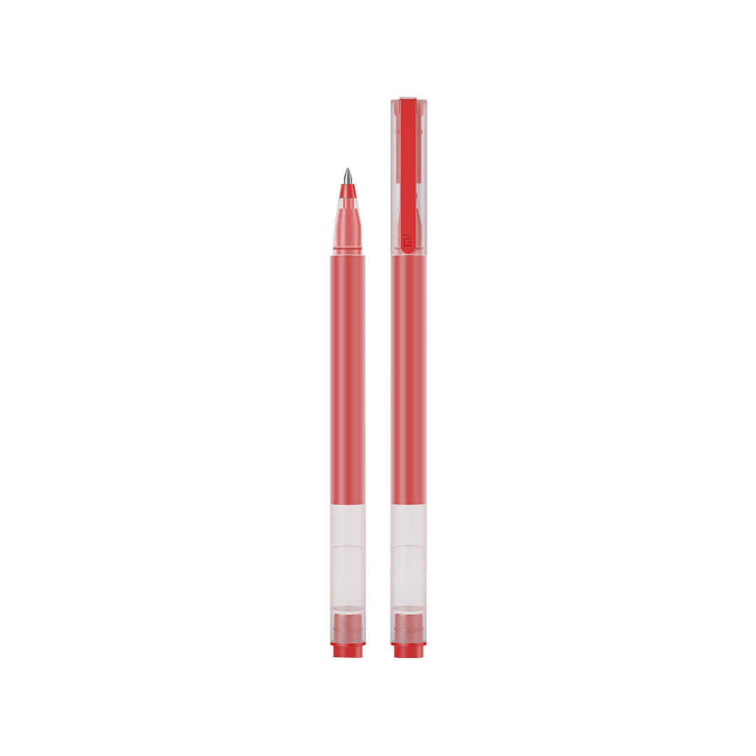 Original XIAOMI 10 Pcs/Pack Super Durable Gel Pens Signing Pen 0.5mm Smooth Writing Pen Japan Mikuni Ink For Students School Office Supplies Red