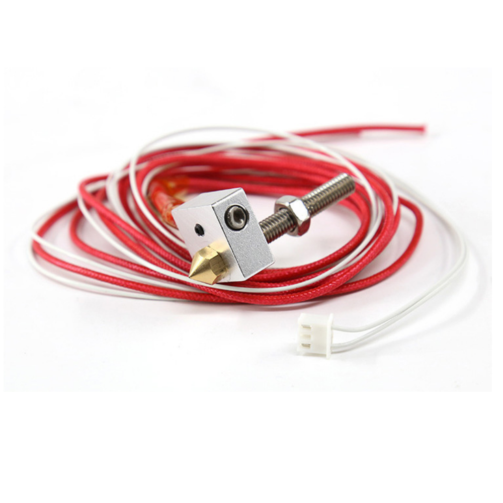 Anet® Hot End Kit M6 30mm Throat + 0.4mm Nozzle + 12V Heating Tube + NTC 3950 Thermistor + Aluminum Heating Block fit for A2 A8 A9 DIY Kit for 3D Printer